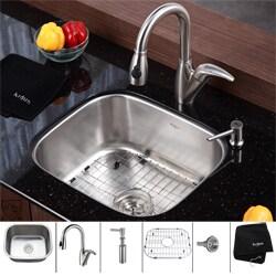 Kraus Stainless Steel Undermount Kitchen Sink/ Faucet/ Soap Dispenser