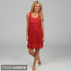 Happie Brand Women&#39;s Rosette Tricot Nightgown