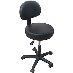 Pneumatic Rolling Massage Black Back Rest Stool