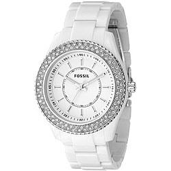Fossil ES2444 Women's 'Stella' White Glitz Chrono Watch