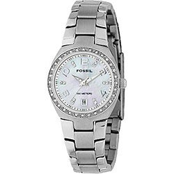 Fossil AM4141 Women's Analog Mother of Pearl Watch