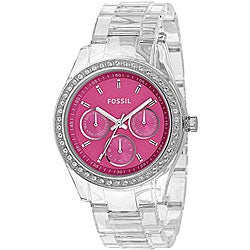 Fossil Women's 'Stella' Pink Dial Chrono Watch