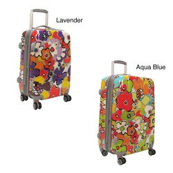 Olympia Blossom 21-inch Fashion Hardside Spinner Upright
