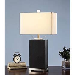 Indoor 2-light Black Marble Tall Table Lamp