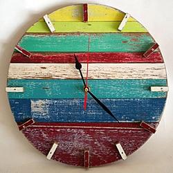 Beach House Retro Wall Clock , Handmade in Thailand