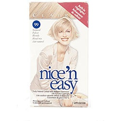 Clairol Nice 'n Easy # 99 Natural Palest Blonde Hair Color (Pack of 4)