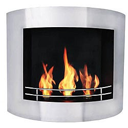 Wall-mounted Silvio Bio Ethanol Fireplace