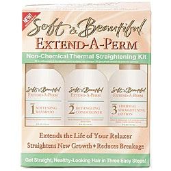 Soft & Beautiful Extend-A-Perm Non-Chemical Thermal Straightening Kit (Pack of 4)