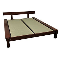 Mahogany Kasagi Tatami King-size Platform Bed (China)