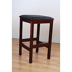 Bulldog Backless Dark Mahogany Barstool