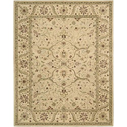 Handmade Beaufort Ivory Wool Rug (5'6 x 7'4)