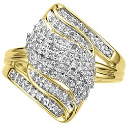 14k Gold Vermeil 1/2ct TDW Diamond Fashion Ring (K-L, I1-I2)