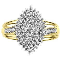 14k Gold over Silver Vermeil 1/2ct TDW Diamond Fashion Ring (K-L, I1-I2)