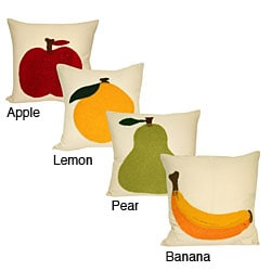 Fruit Embroidered Decorative Pillow