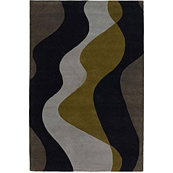 Hand-tufted 'Mandara' Grey Wool Rug (5' x 7'6)