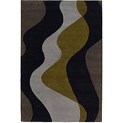 Hand-tufted Mandara New Zealand Wool Rug (9' x 13')