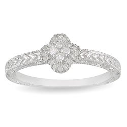 Miadora Sterling Silver 1/8ct TDW Diamond Fashion Ring (H-I, I3)