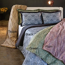 Max Collection 500 Thread Count Paisley 3-piece Duvet Cover Set