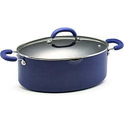 Rachael Ray Blue Porcelain Enamel 8-quart Covered Pasta Pot