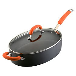Rachael Ray Orange 5-quart Oval Saute Pan