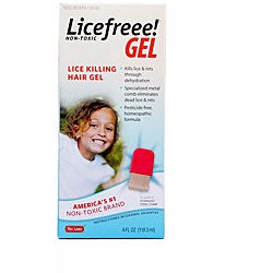 LiceFreee 4-oz Instant Head Lice Treatment Gel with Metal Comb