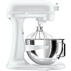 KitchenAid KV25GOXWW White on White Professional 5 Plus 5-Quart Stand Mixer