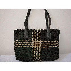 Handmade Agel Leather Handbag (Indonesia)