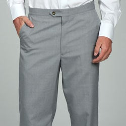 Sansabelt Men's Light Grey Flat Front Trousers