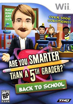 Wii - Are You Smarter Than a 5th Grader?: Back To School