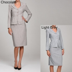 First Lady Women's Peplum Jacket and Skirt Set