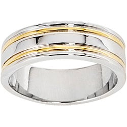 NEXTE Jewelry 14k Gold Overlay Railed Women's Band (7 mm)