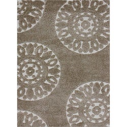 Jullian Beige Shag Rug (5'3 x 7'7)