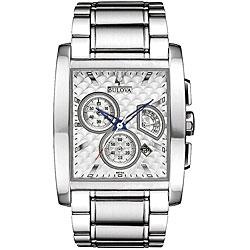 Bulova Men's Chronograph Stainless Steel Dress Watch