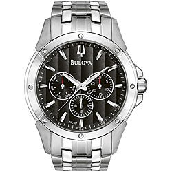 Bulova Men's Stainless Steel Calendar Watch