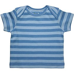 Funkoos Organic Blue Stripes Infant Boy T-Shirt