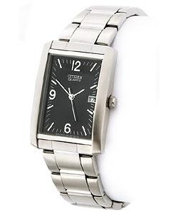 Citizen Men's Silvertone Tank-style Watch