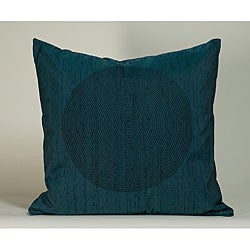 &#39;Spiral&#39; Teal 20x20-inch Decorative Pillow