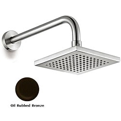 Hamat Brass Oil Rubbed Bronze 6-inch Square Showerhead