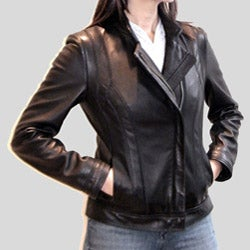 Izod Women's New Zealand Lamb Leather Jacket