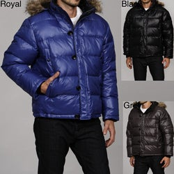 MICHAEL Michael Kors Men's Faux Fur Hooded Puffer Coat