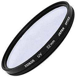 Zeikos 52mm UV Multi-coated Glass Lens Filter