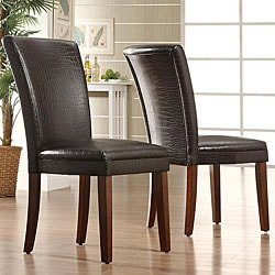 ETHAN HOME Decor Faux Alligator Print Dining Chairs (Set of 2)