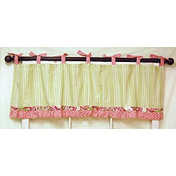 My Baby Sam Pink Paisley Splash Curtain Valance