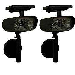 Tricod Wall Mount Solar Spotlights (Set of 2) - 12962451 - Overstock.com Shopping - Great Deals ...