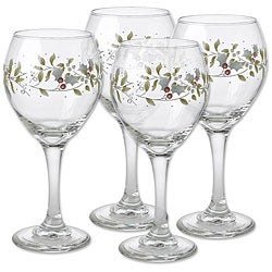 Pfaltzgraff Winterberry Wine Glasses (Set of 4)