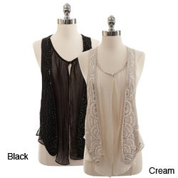Naomi Women's Chiffon Beaded Vest