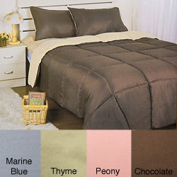 Solid Color Microfiber Reversible Mini Comforter Set