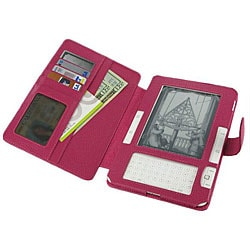 rooCASE Amazon Kindle 2 Magenta Leather Carrying Case