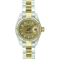 Pre-owned Rolex Women's Datejust Two-tone Champagne Dial Watch