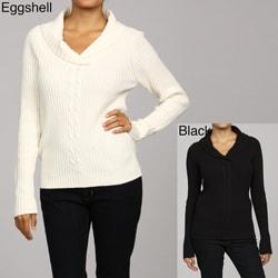Stephanie Rogers Women's Shawl Neck Sweater